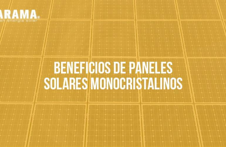beneficios paneles solares monocristalinos