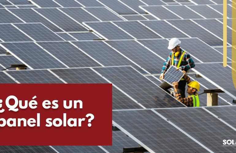 qué es un panel solar